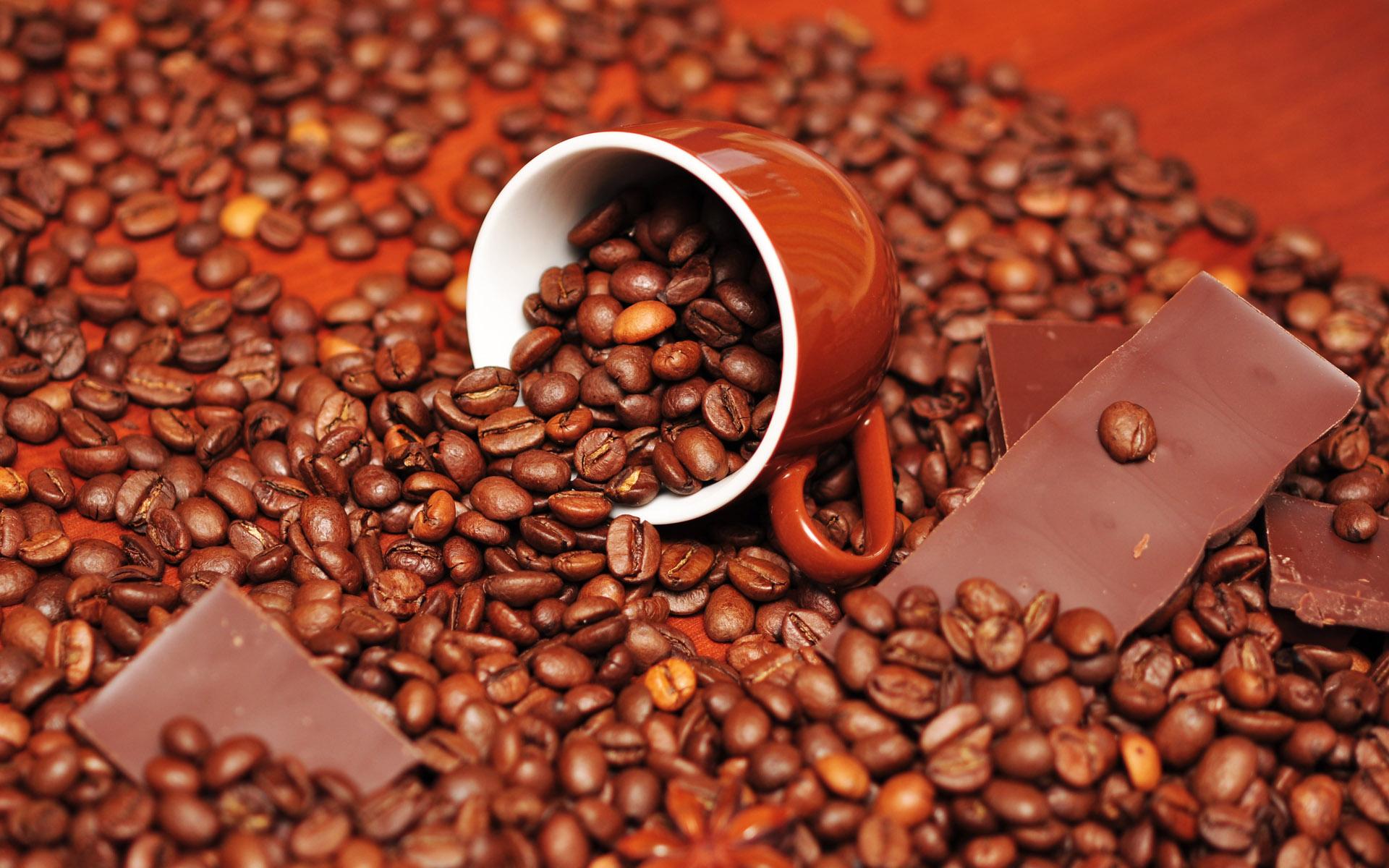 coffee, кофейные зерна, скачать фото, обои для рабочего стола, кофе, шоколад