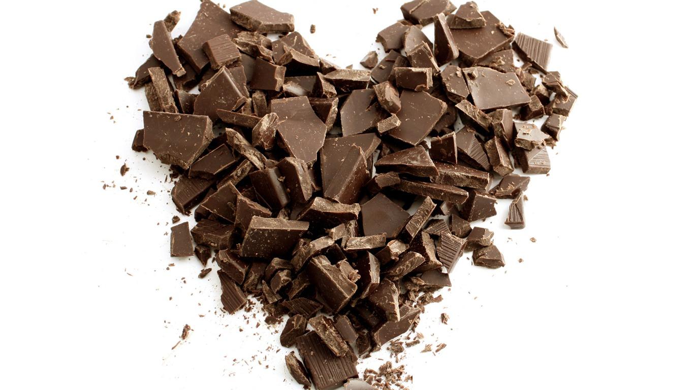 сердце из шоколада, скачать фото, обои для рабочего стола, chocolate heart wallpaper