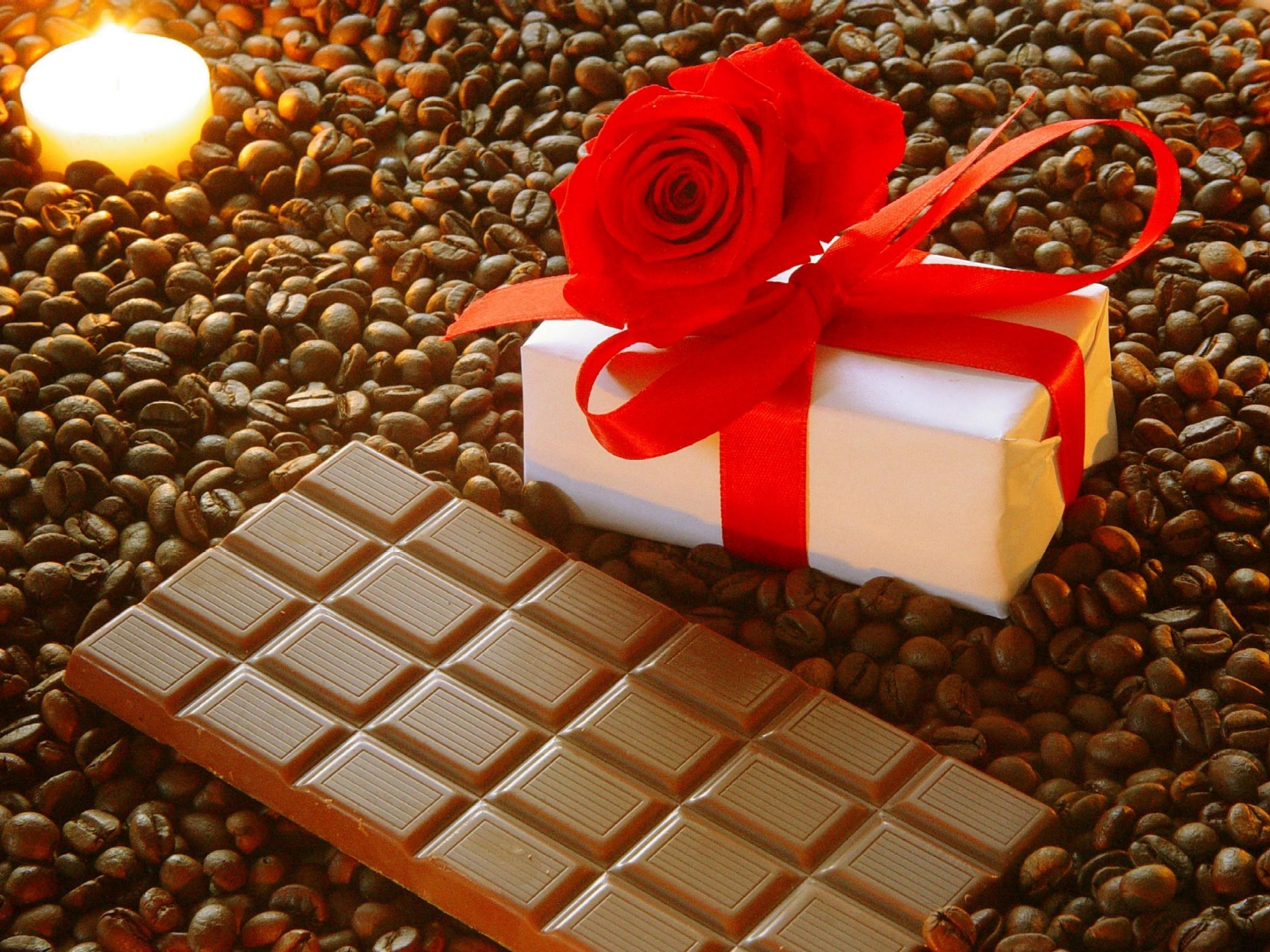 плитка шоколада, шоколад, chocolate bar, texture, wallpaper, скачать фото, обои для рабочего стола, кофейные зерна