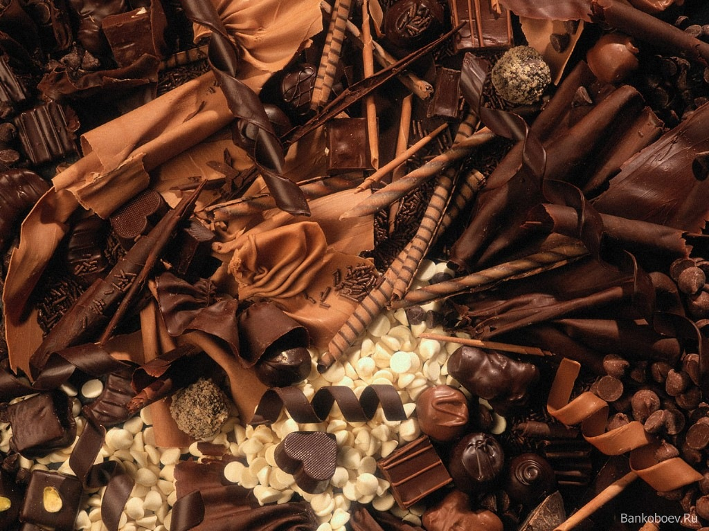 черные, белый и молочный шоколад, шоколадные обои для рабочего стола