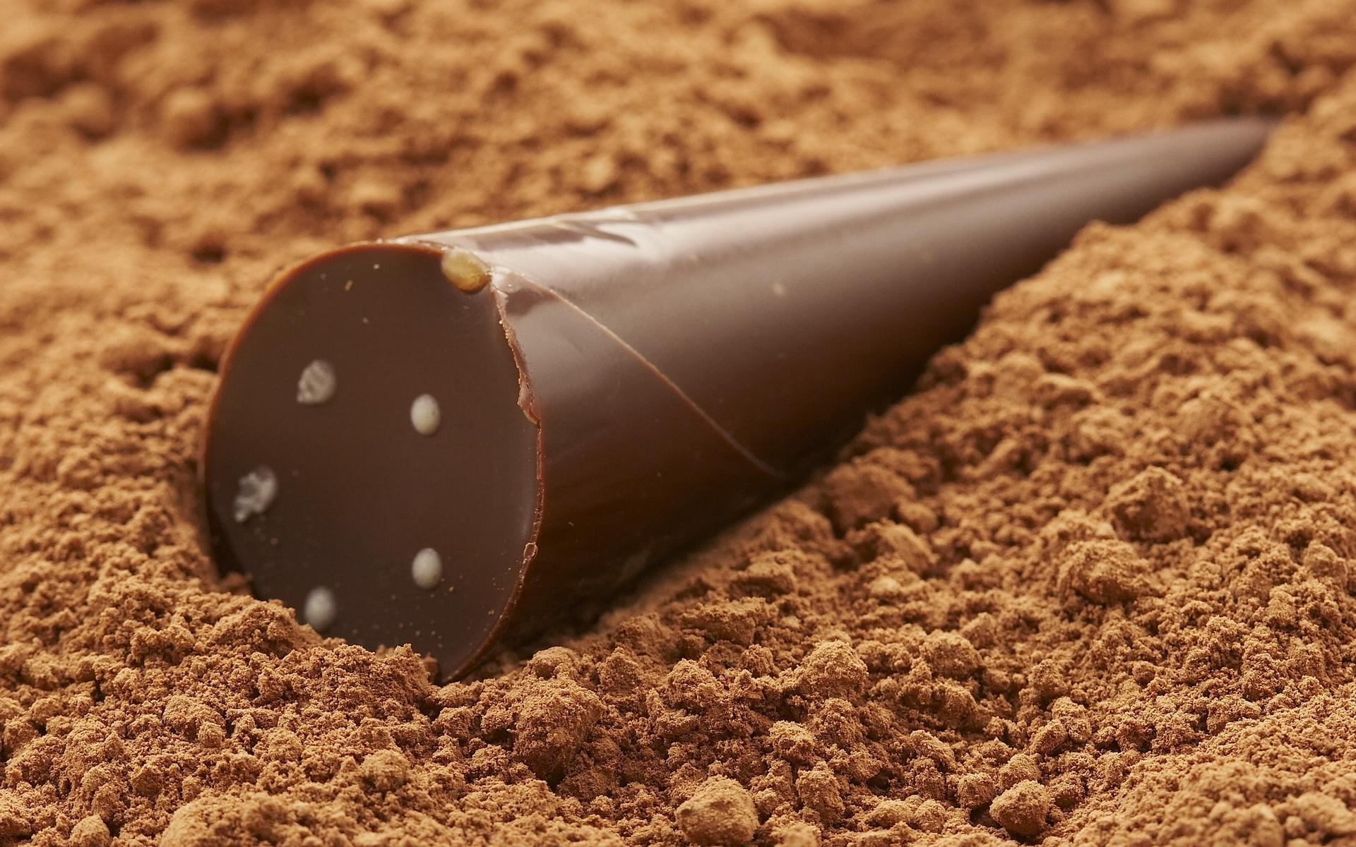 шоколадный порошок, крошка, шоколад, обои на рабочий стол