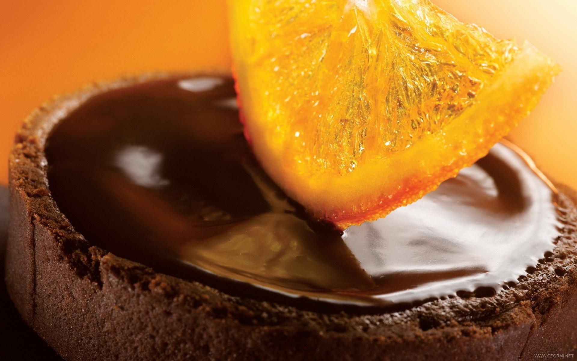 апельсин в шоколаде, шоколад, обои на рабочий стол