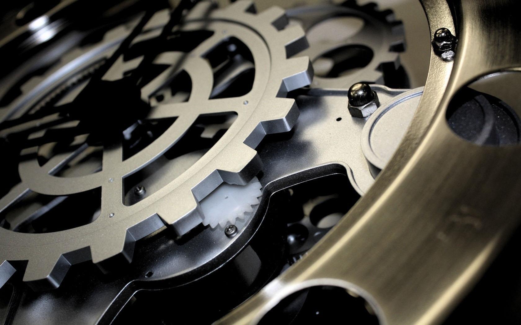 металлические шестеренки, механизм, скачать фото, обои для рабочего стола, metal wallpaper