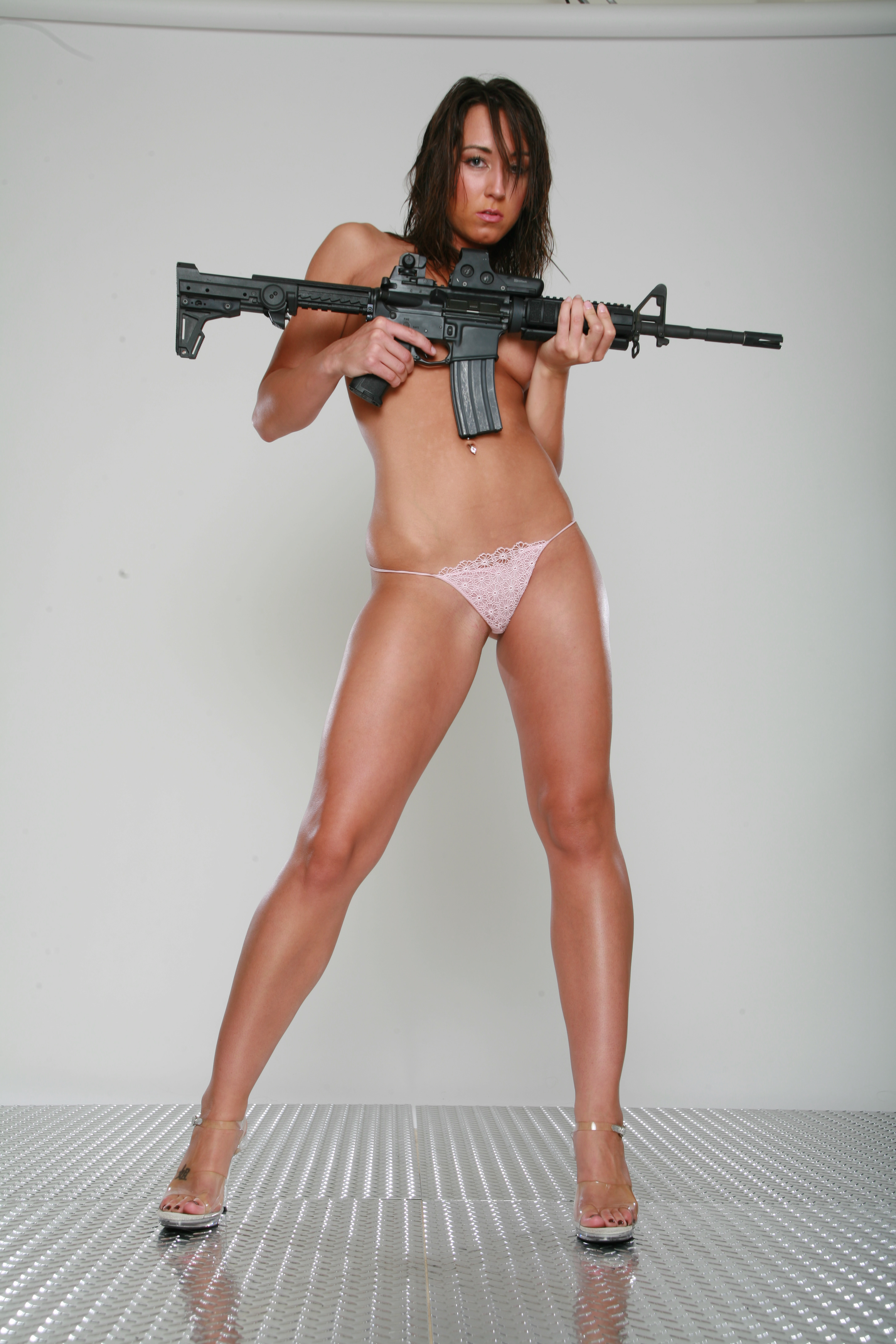 Sexy gril guns naked video