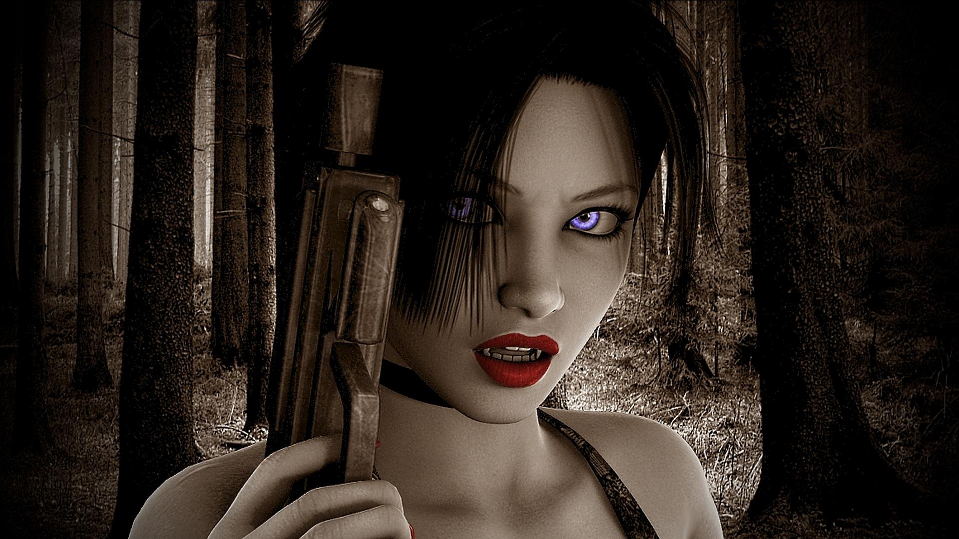 Фото девушки вампиры для рабочего стола