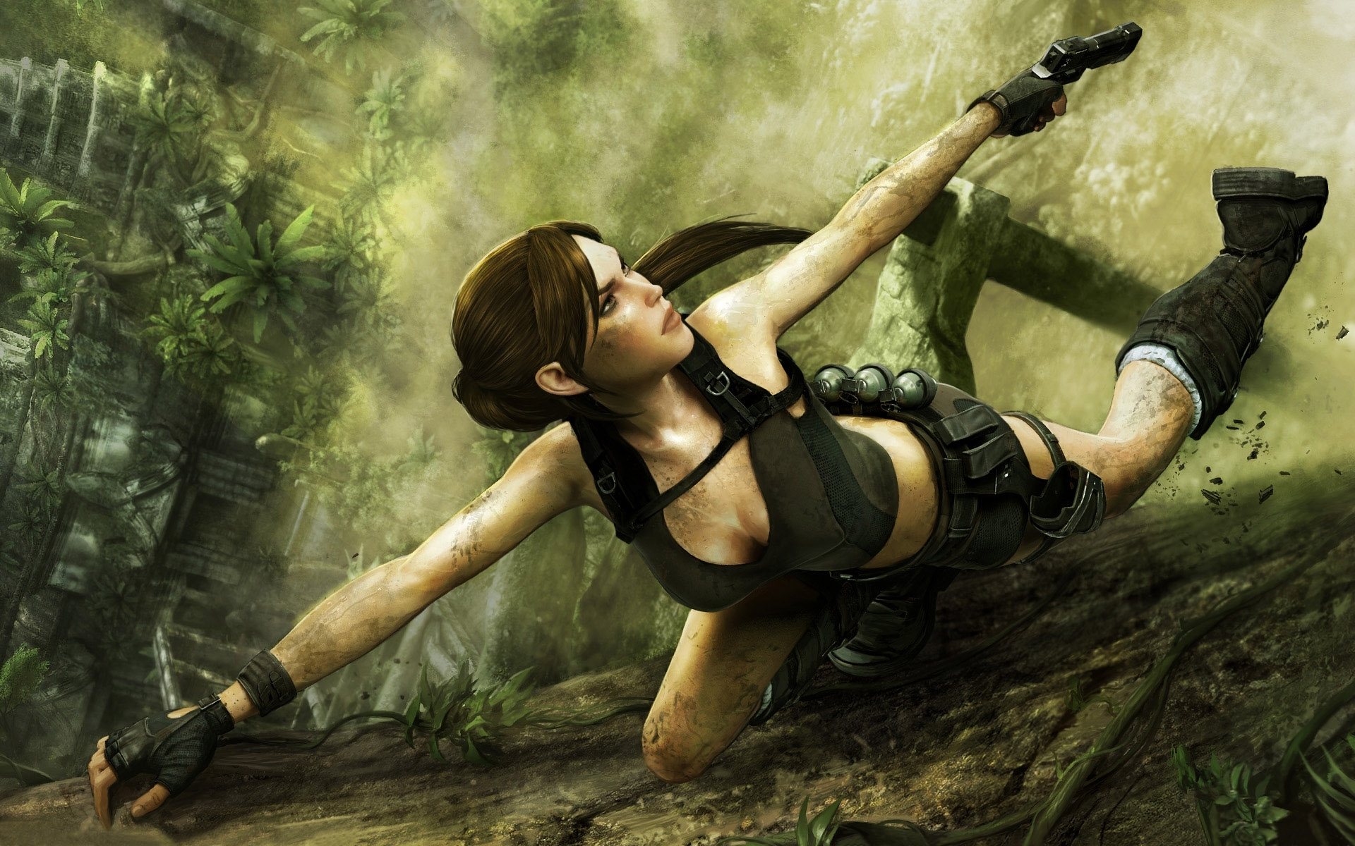 Томб Райдер, скачать фото, расхитительница гробниц, девушка с оружием, Tomb Raider