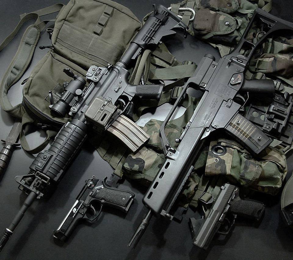 карабин M4A1, винтовка, скачать фото, weapon wallpaper, обои для рабочего стола, оружие