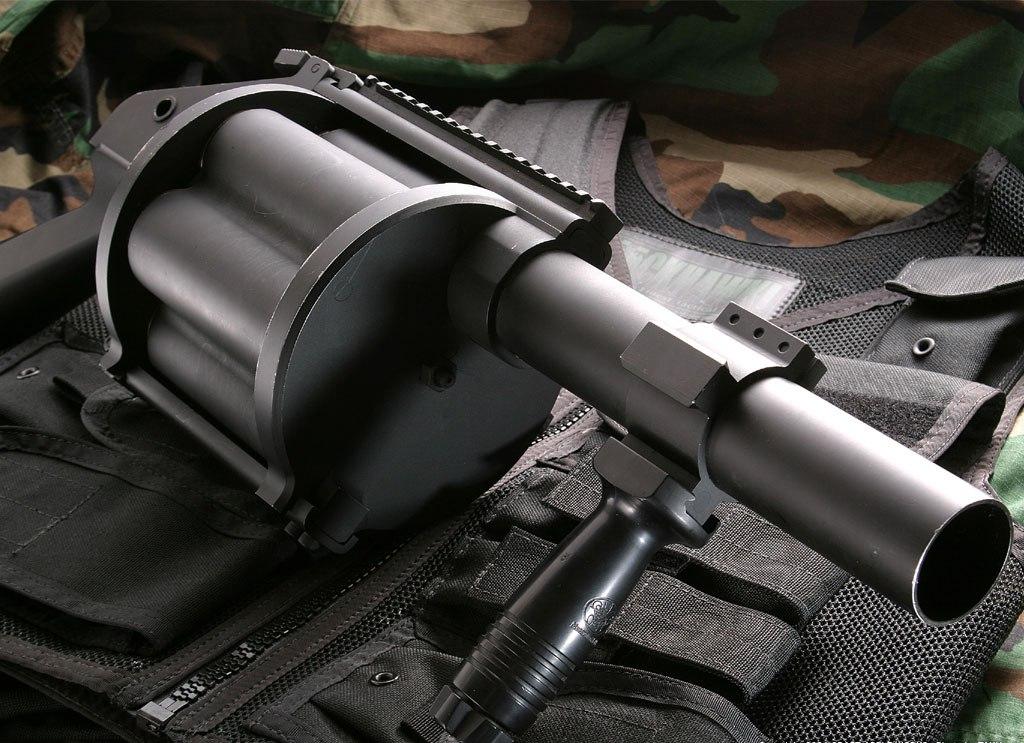 автоматический барабанный гранатомет, скачать фото, обои для рабочего стола, machine gun wallpaper