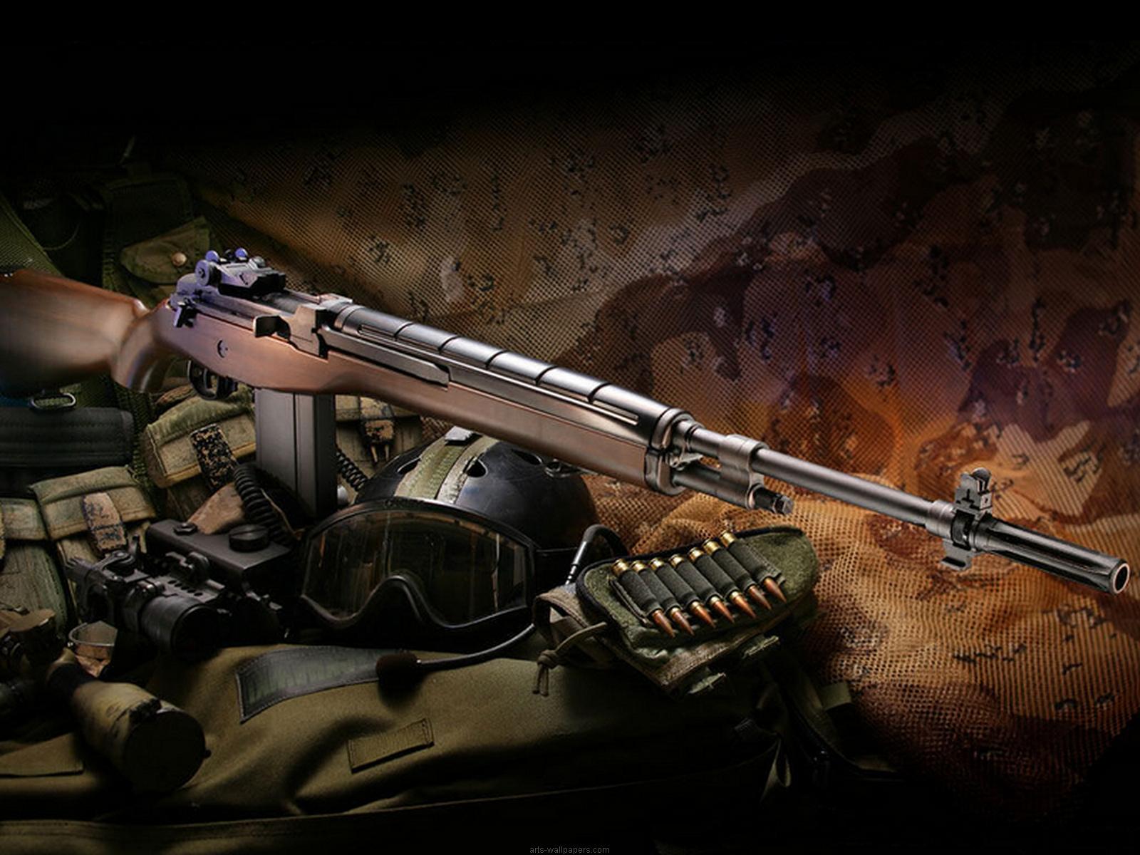 M-14 rifle wallpaper, скачать фото, М-14 винтовка, оружие, обои