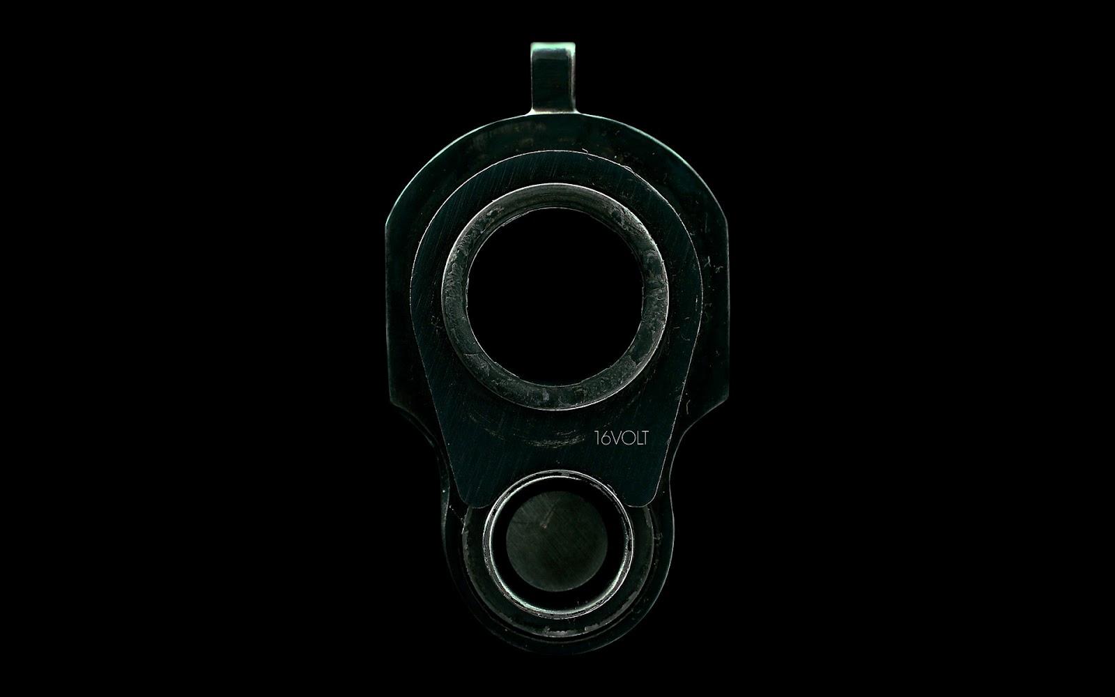 дуло пистолета, скачать фото, обои для рабочего стола, hand gun wallpaper