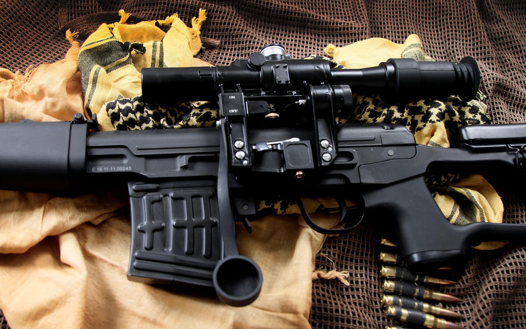 SVD Dragunov sniper rifle, скачать фото, обои на рабочий стол, снайперская винтовка Даргунова, СВД