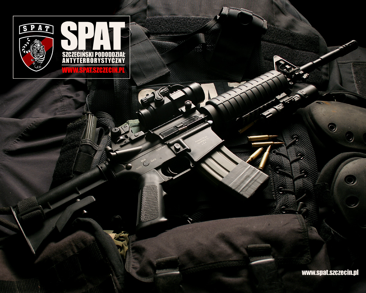 M-16 карабин, автоматическая винтовка, wallpaper weapons SPAT, SWAT, обои, оружие