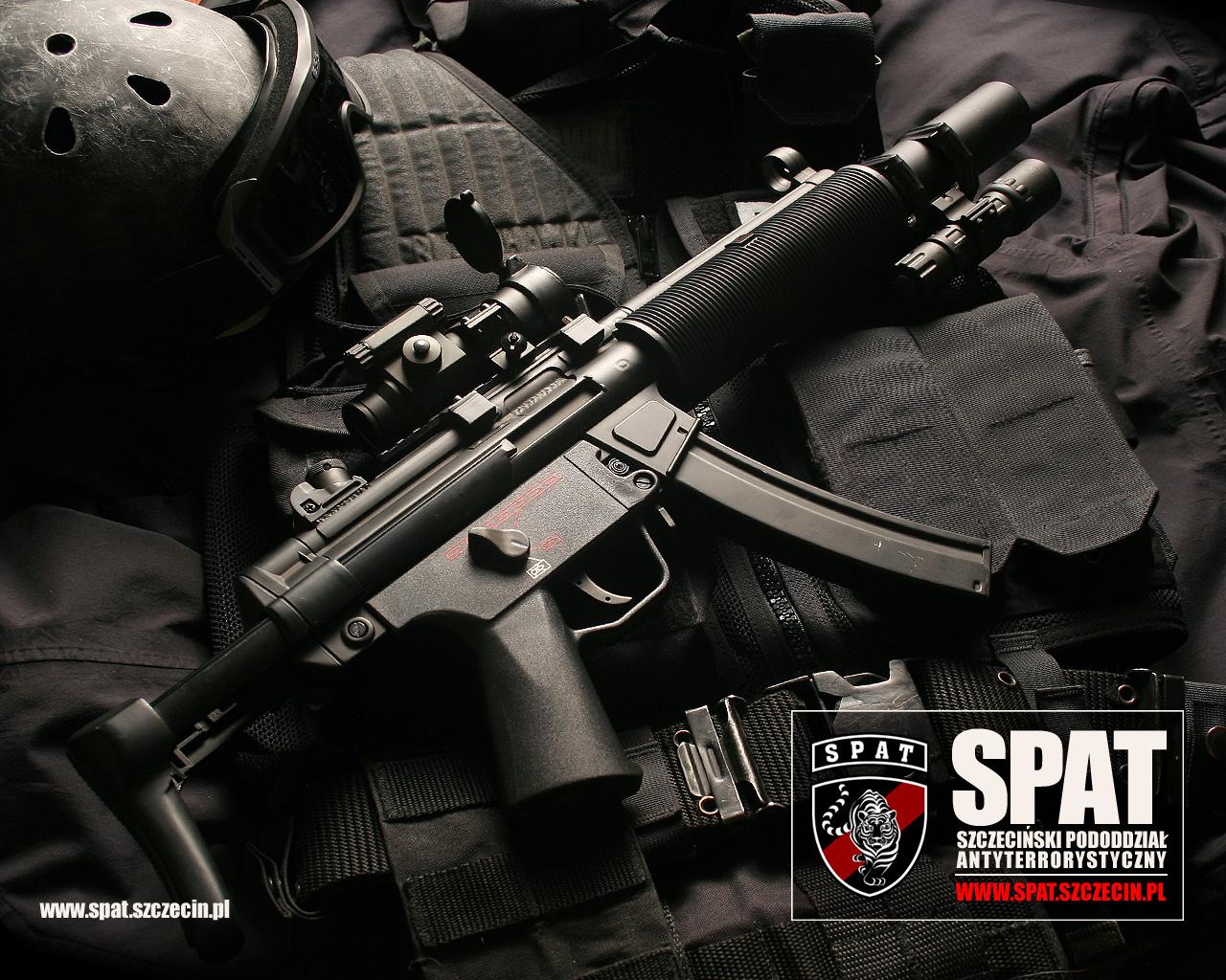 пистолет пулемет МП5, MP5 wallpaper weapons SPAT, SWAT, обои, оружие