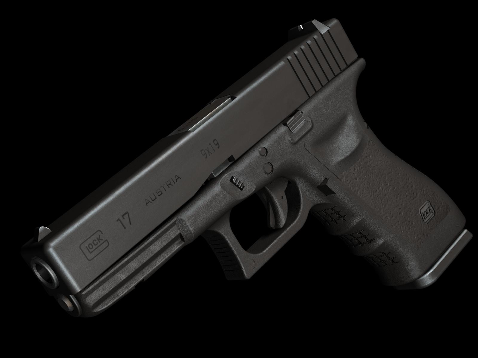 Глок-17 пистолет, обои для рабочего стола, gun Glok-17 wallpaper, weapon, оружие