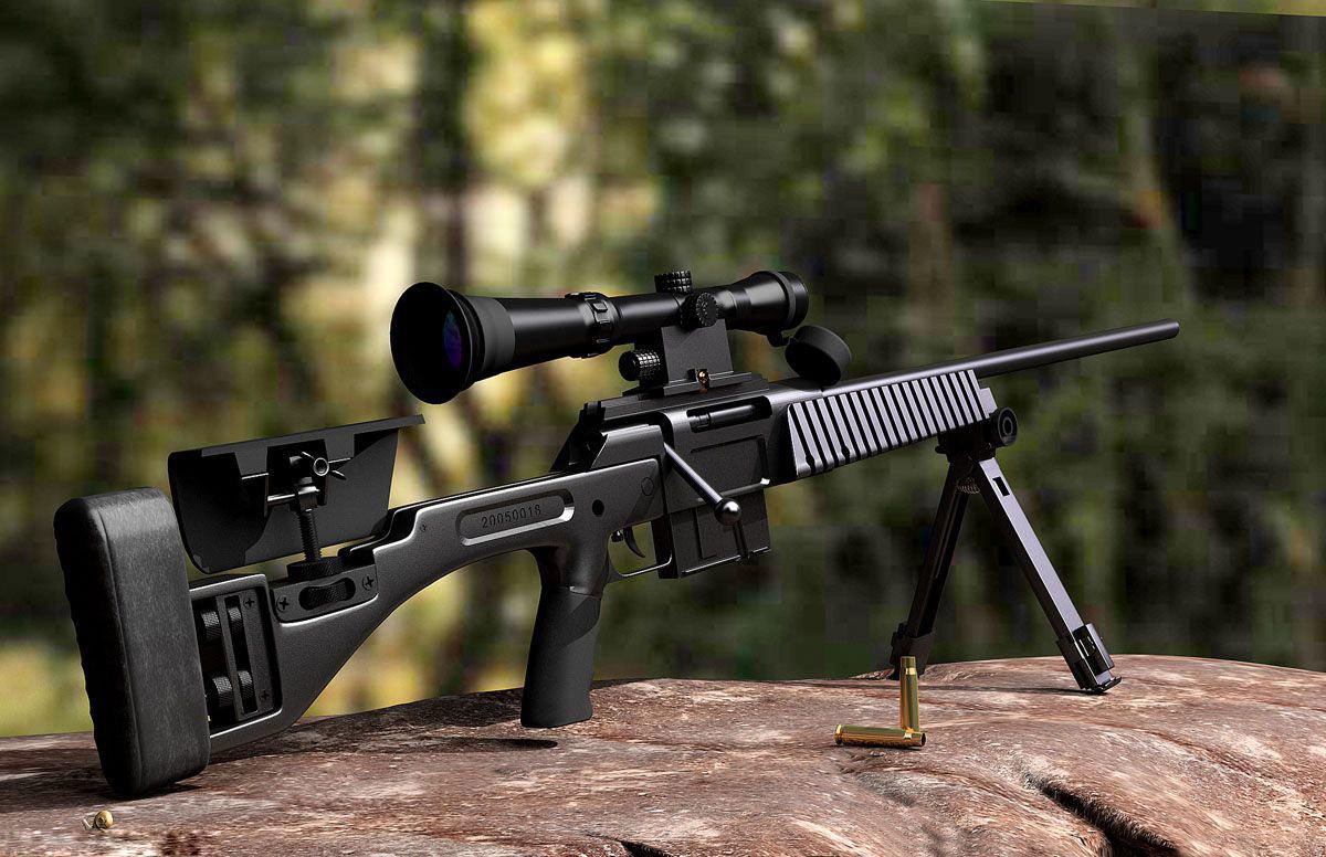 Снайперская винтовка JS, скачать фото, обои для рабочего стола, sniper rifle wallpaper