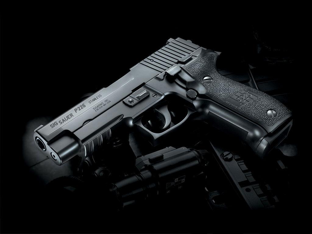 SIG Sauer gun wallpaper, Скачать фото, обои для рабочего стола, пистолет, оружие