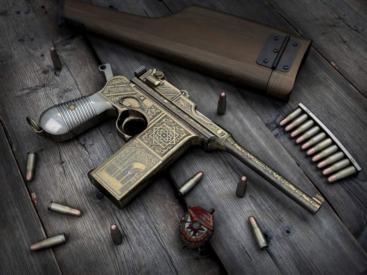 пистолет Маузер, фото, обои для рабочего стола, gun Mauser wallpaper