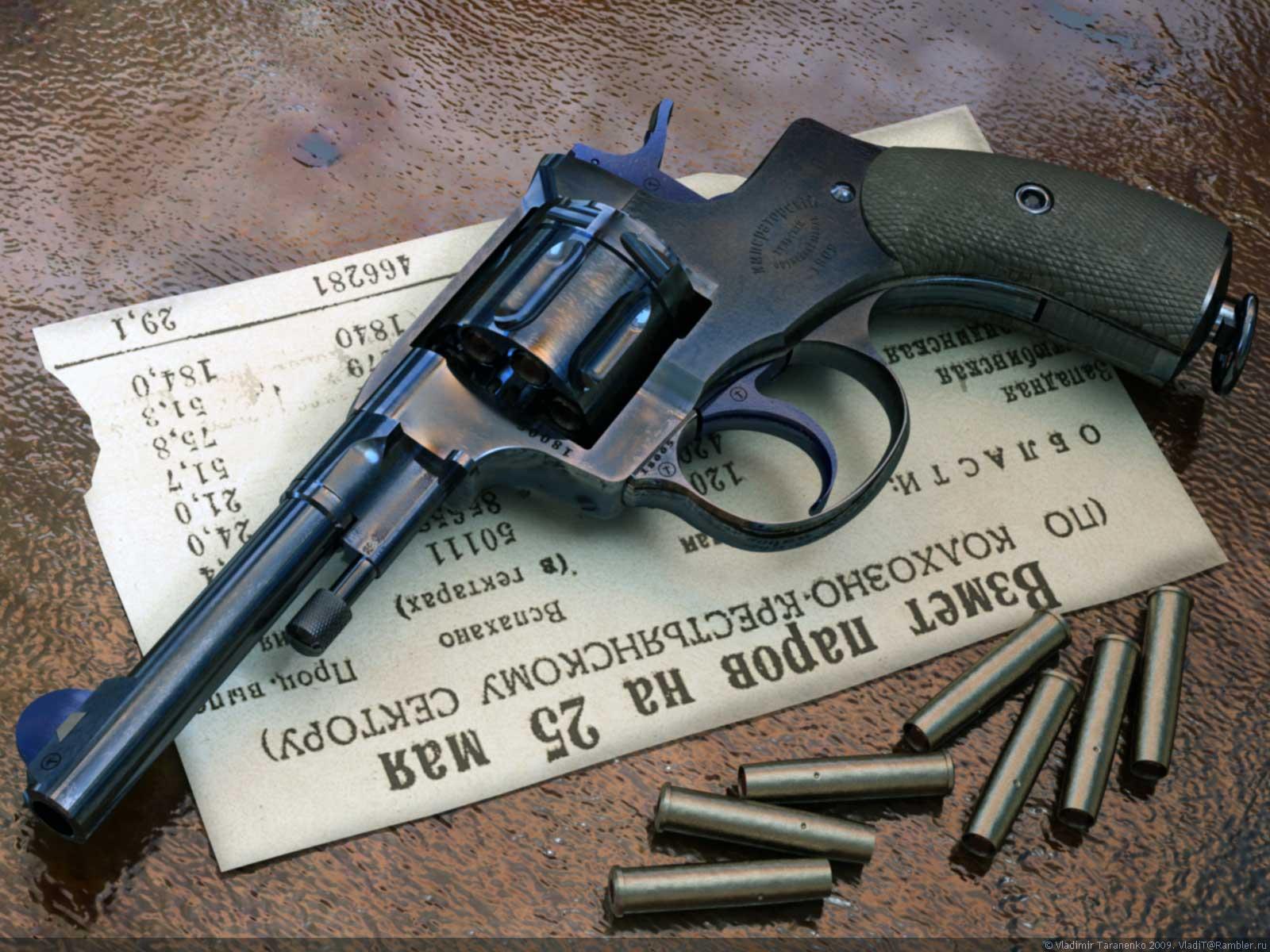 Nagan revolver gun wallpaper, скачать фото, наган, обои для рабочего стола