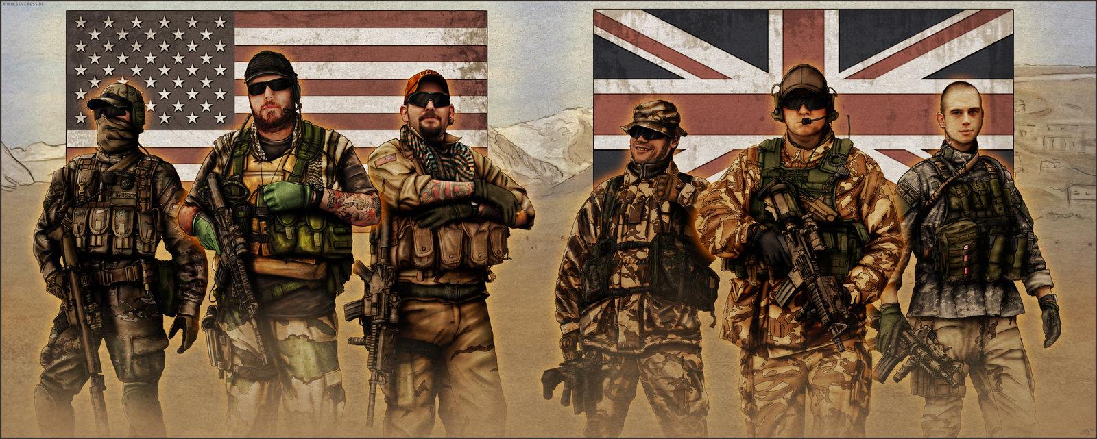 обои для рабочего стола, американские и английские, британские солдаты, american US soldier wallpaper