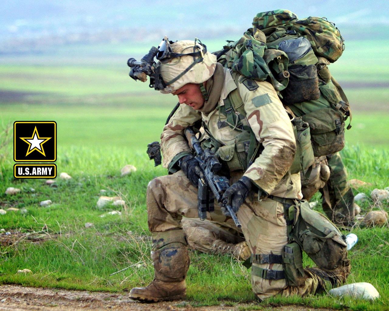 обои для рабочего стола, американский солдат, american US soldier wallpaper, американская армия