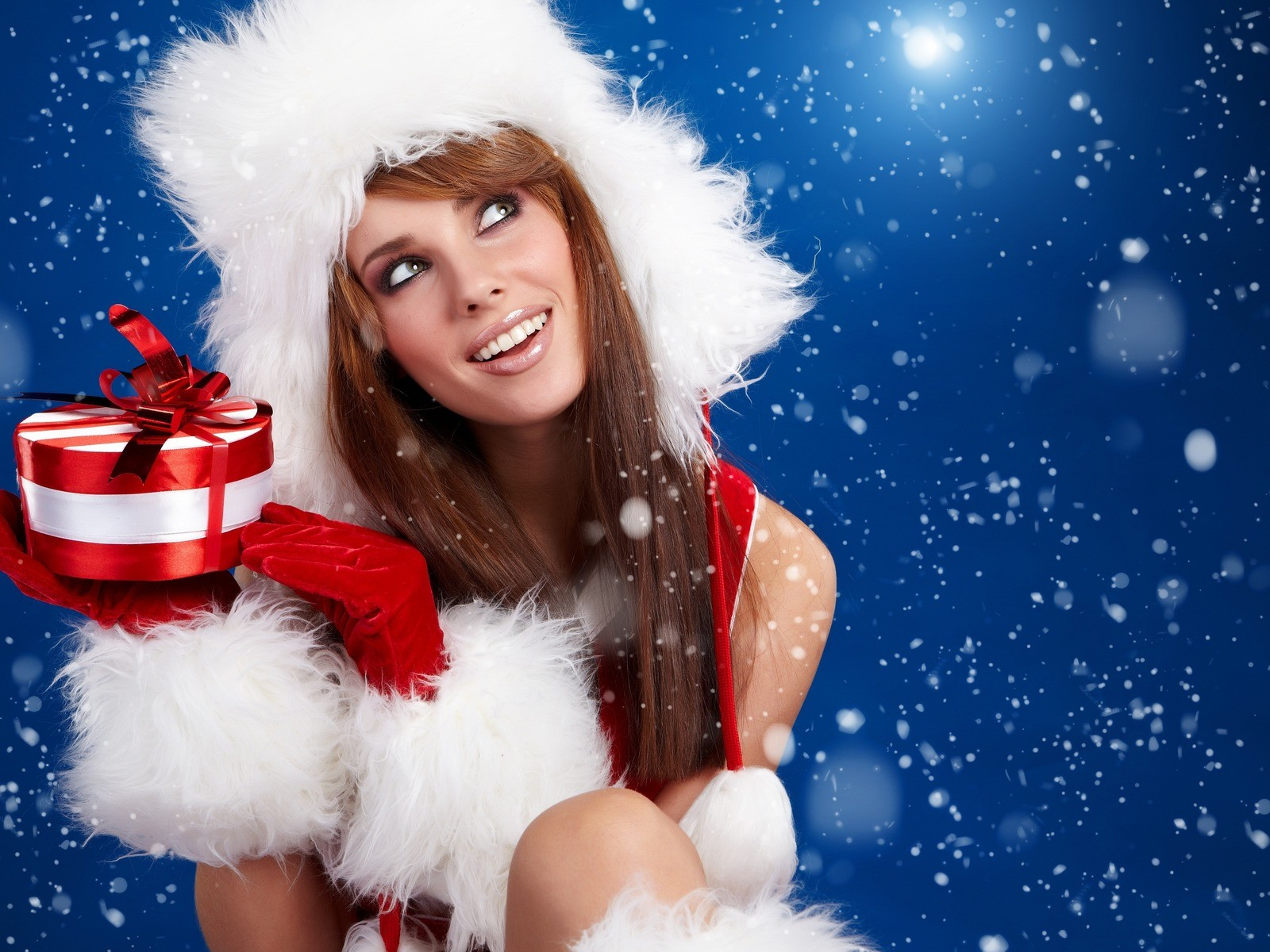 сексуальная снегурочка, секси снегурка, sexy santa girl wallpaper woman, скачать обои для рабочего стола,
