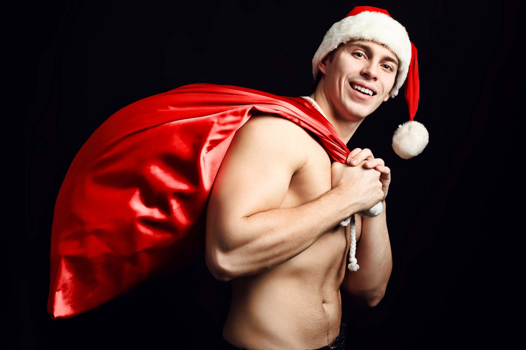Christmas pictures with guy santa sucking on  fucking online slaves