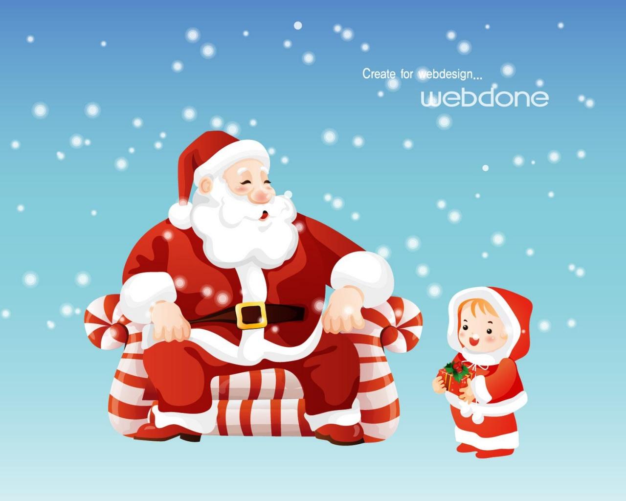 Дед мороз, скачать обои на рабочий стол, Santa Claus wallpaper, фото
