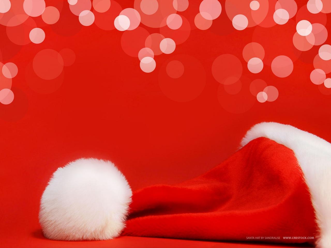 Шапка деда мороза, скачать фото, обои для рабочего стола, Santa Claus hat wallpaper