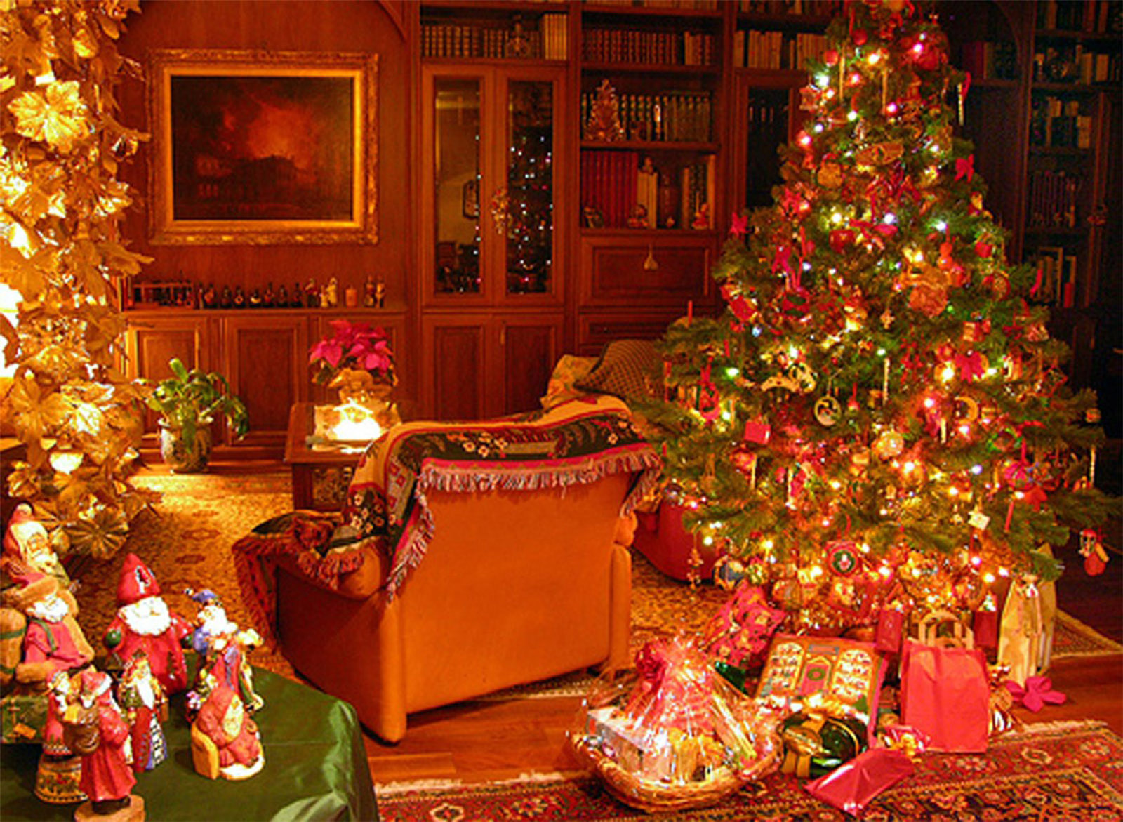 Новогодние обои на рабочий стол, новогодняя елка, скачать фото, New Year tree wallpaper