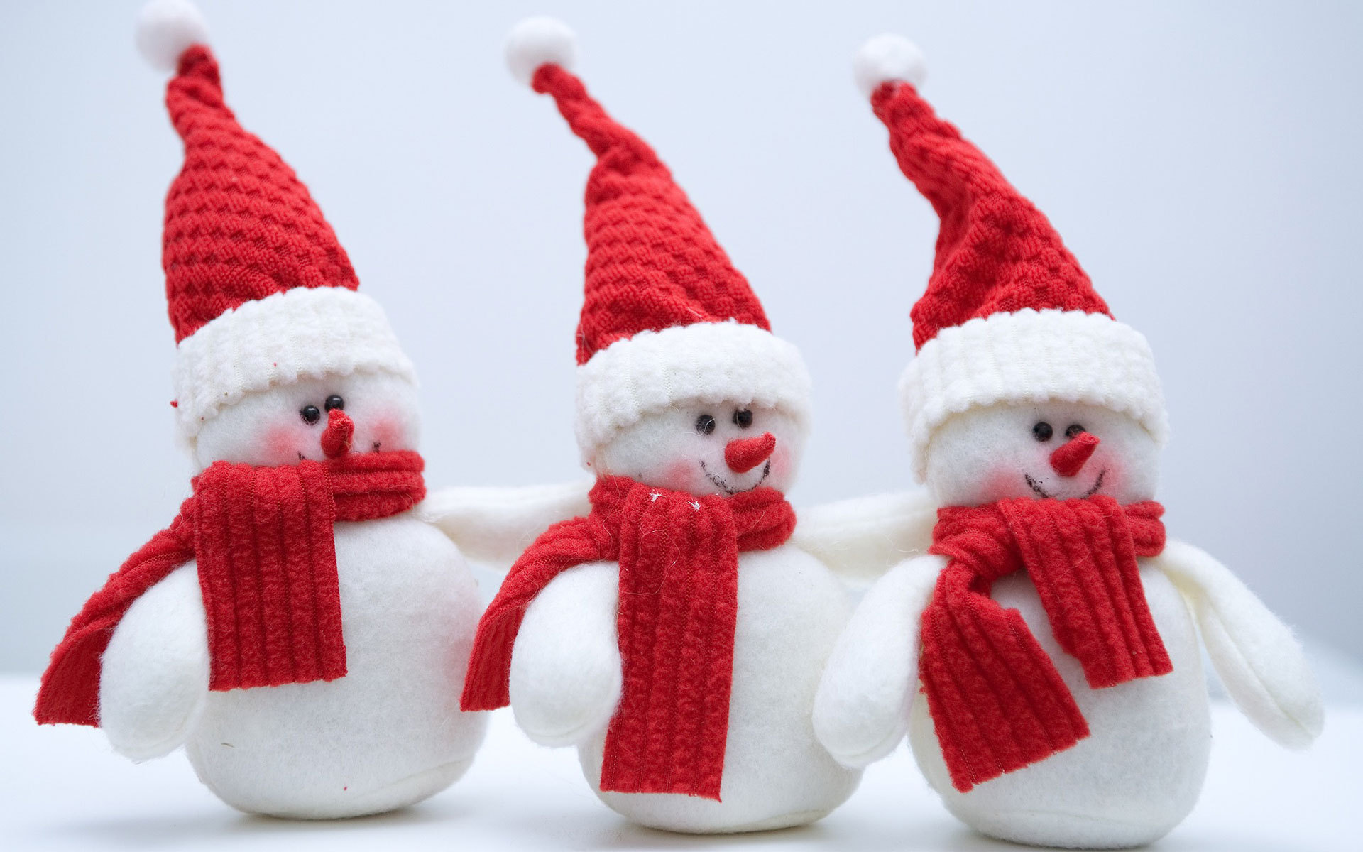 снеговики, Новогодние обои для рабочего стола, с Новым 2013 годом, Новый год, Happy New Year Wallpaper