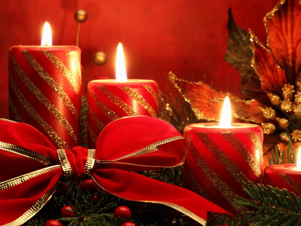 свечи, Новогодние обои для рабочего стола, с Новым 2013 годом, Новый год, Happy New Year Wallpaper