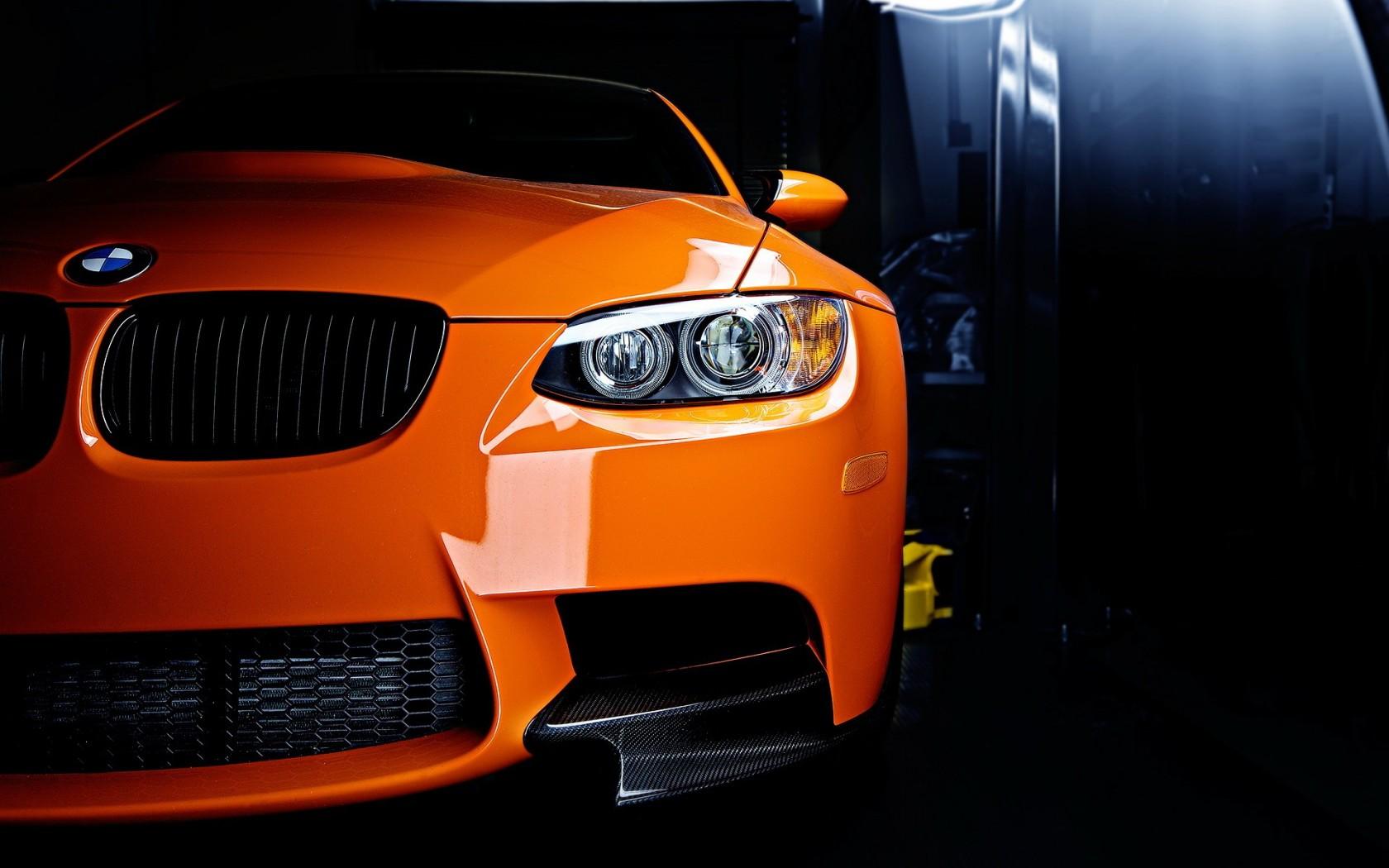 orange BMW wallpapers, обои для рабочего стола бэха, скачать бесплатно, оранжевая БМВ, car wallpaper, оранжевая машина