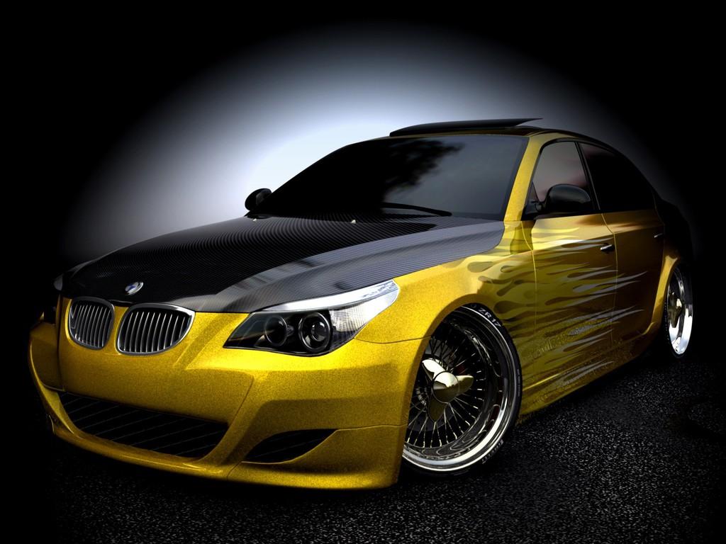 yellow BMW wallpapers, обои для рабочего стола бэха, скачать бесплатно, желтая БМВ, car wallpaper, машины