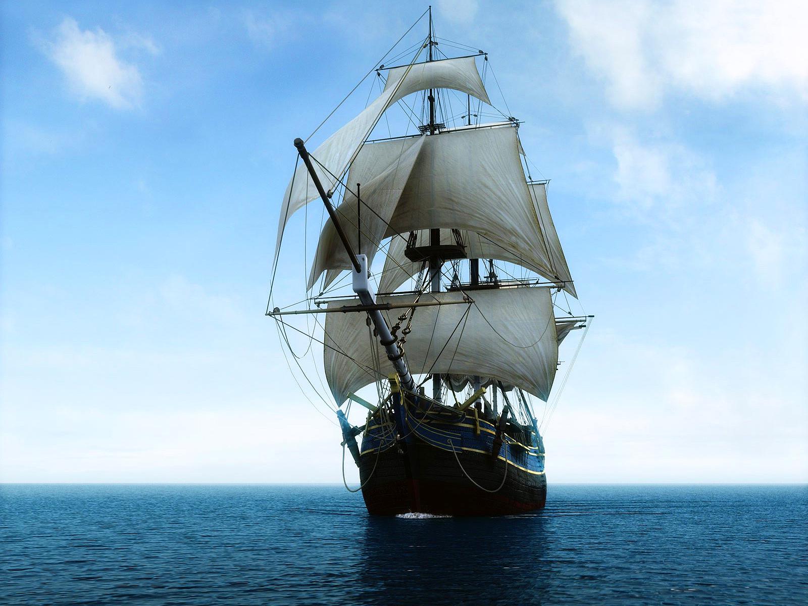 Парусный фрегат, корабль, фото, обои на рабочий стол