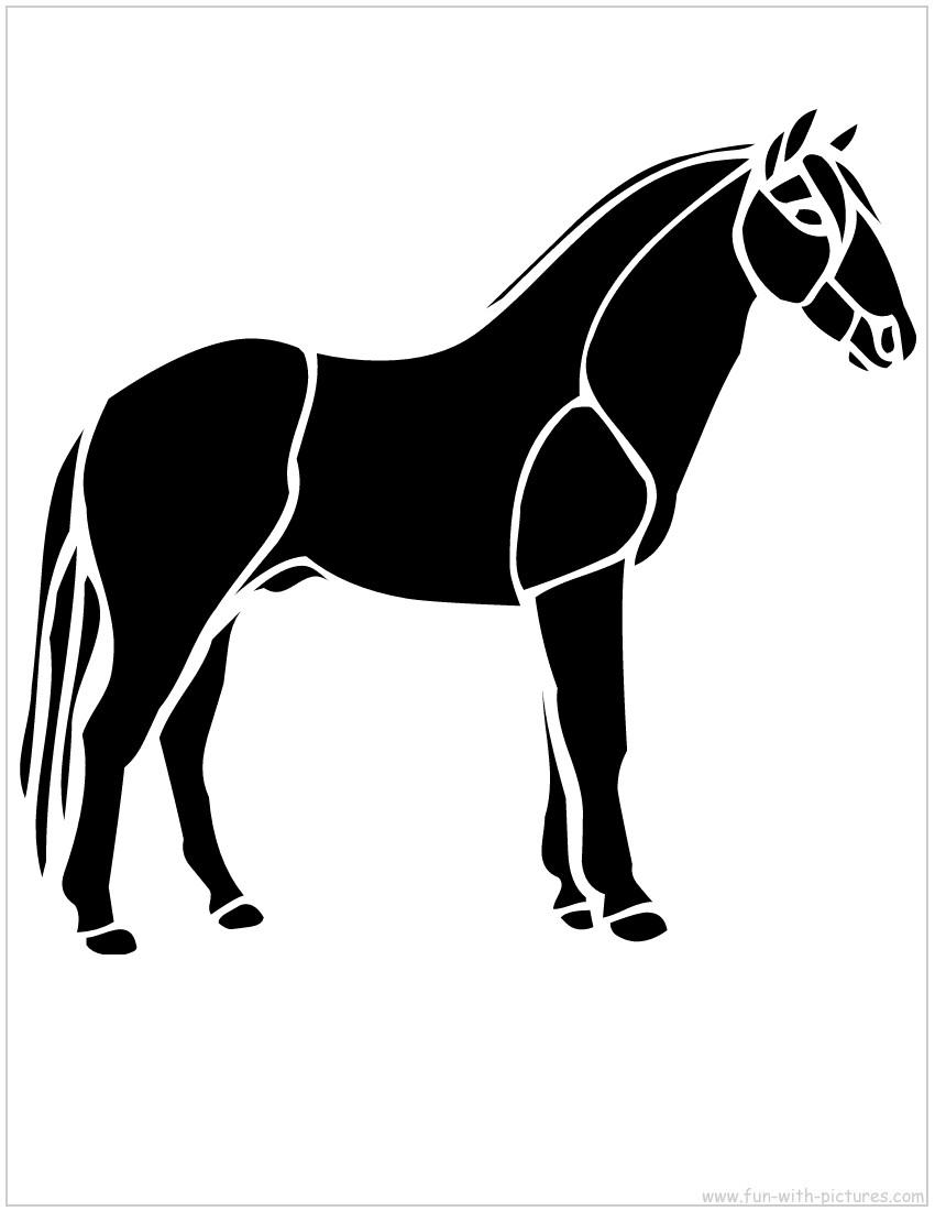 Силуэт лошадка для вырезания шаблон картинки