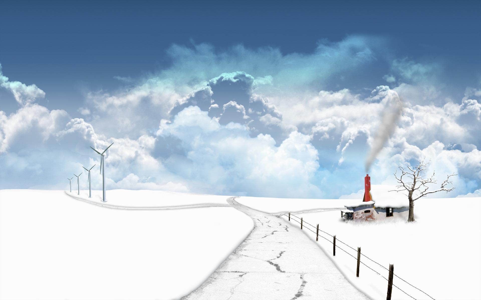Зима, зимние обои для рабочего стола, фото, снег