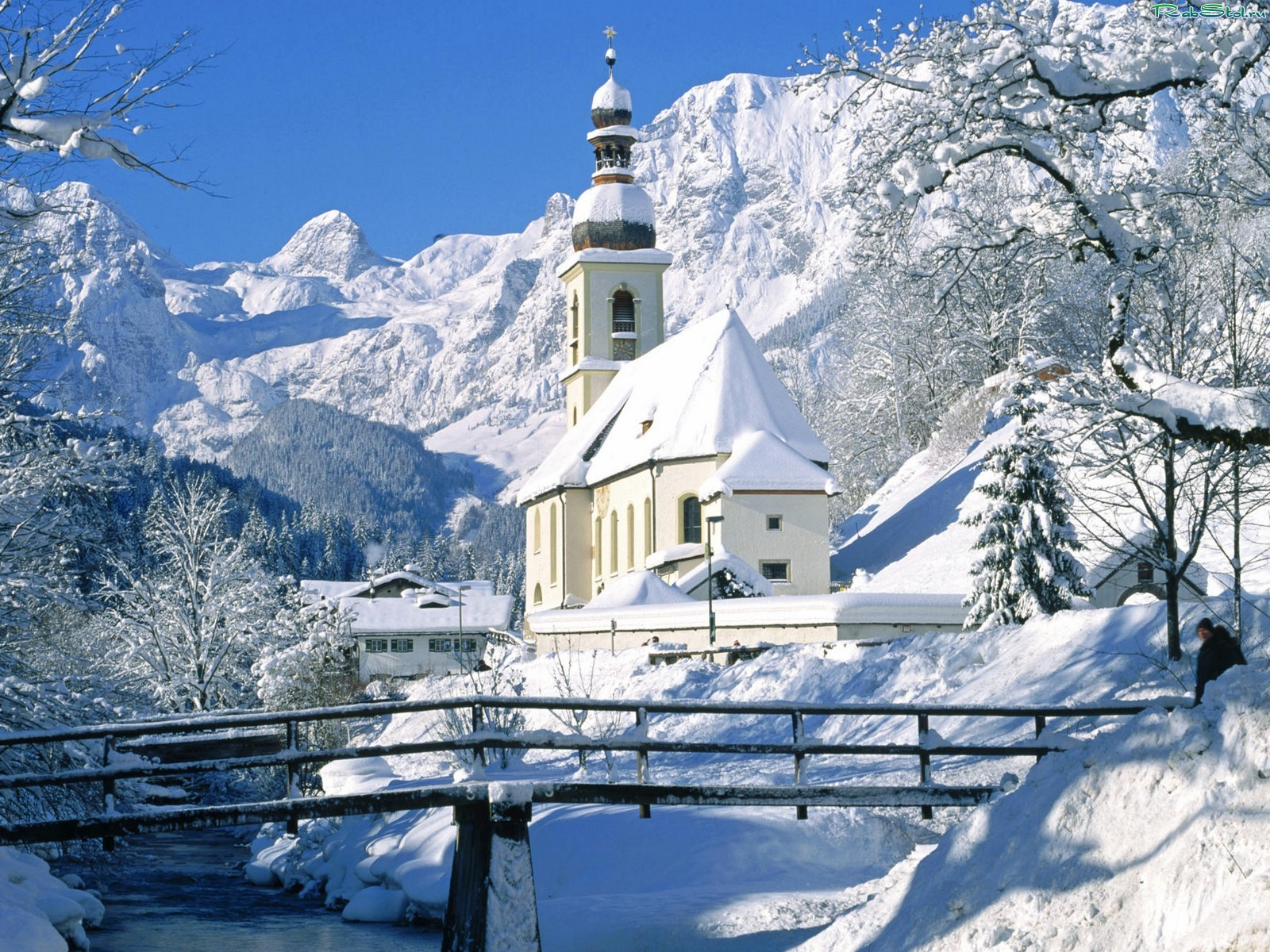 Дом в снегу, обои, фото, скачать, зима, красивое фото