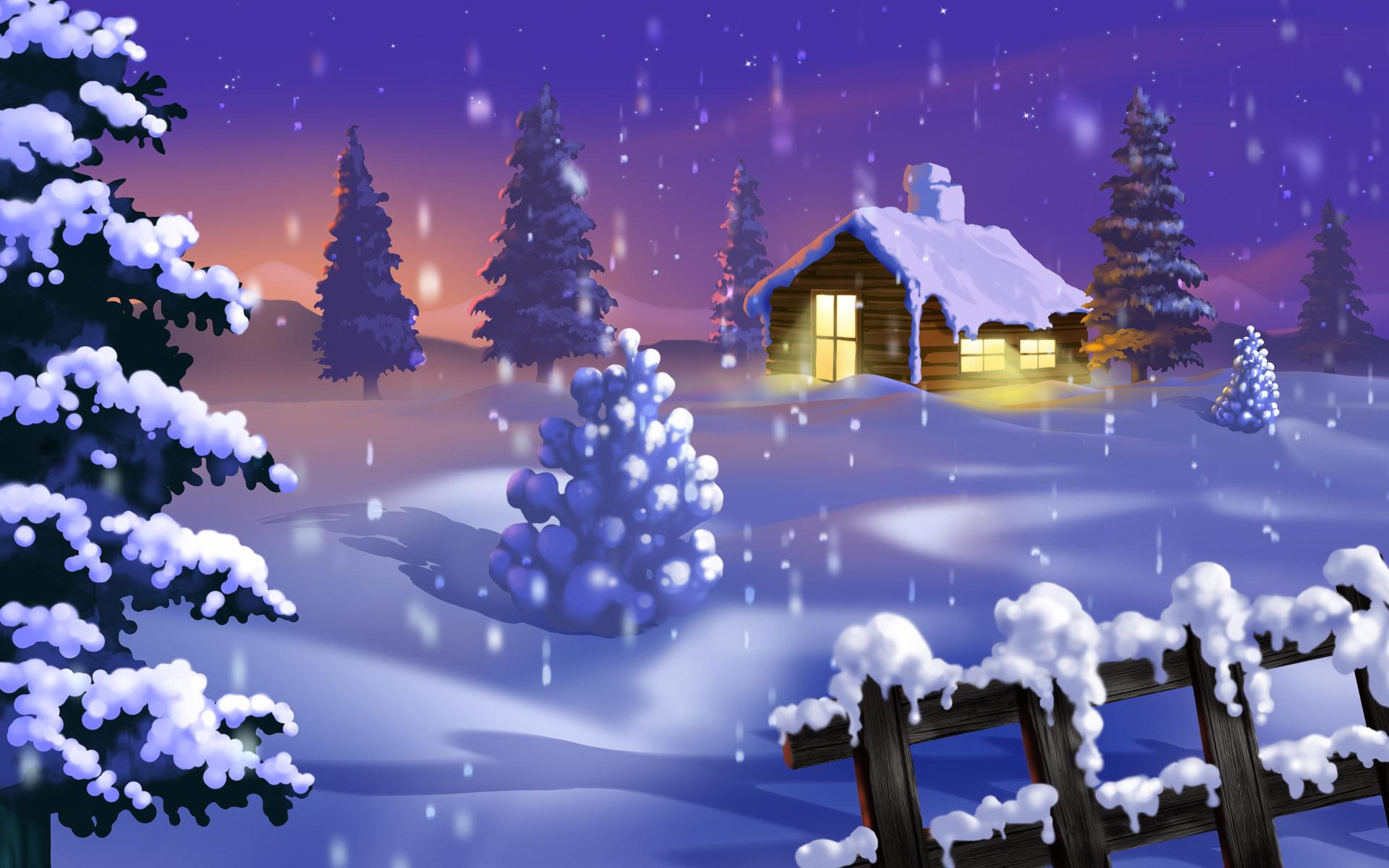 Красивые обои для рабочего стола, зима, снег, сугробы, скачать