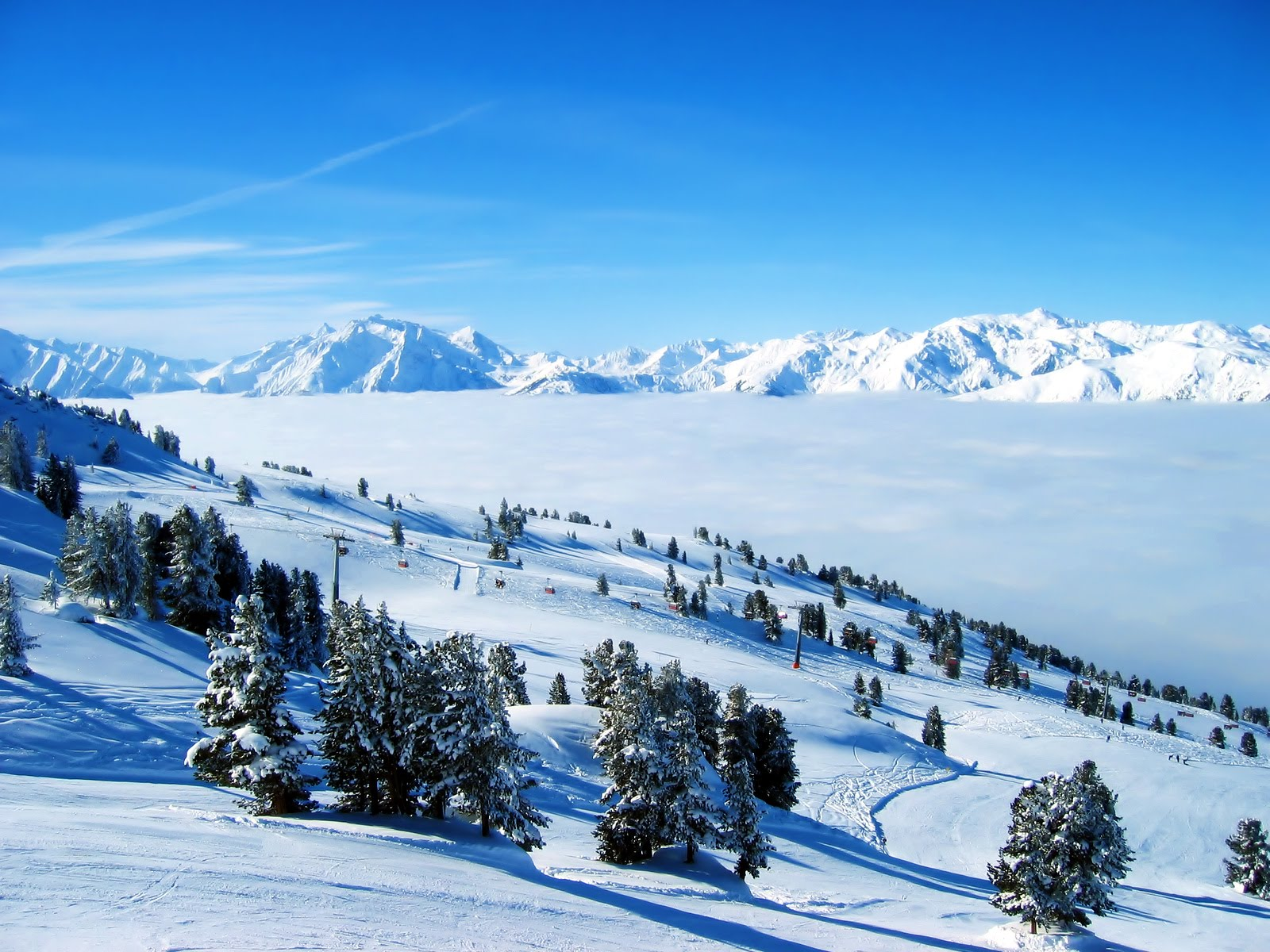 Зима, снег, сугробы, фото, обои