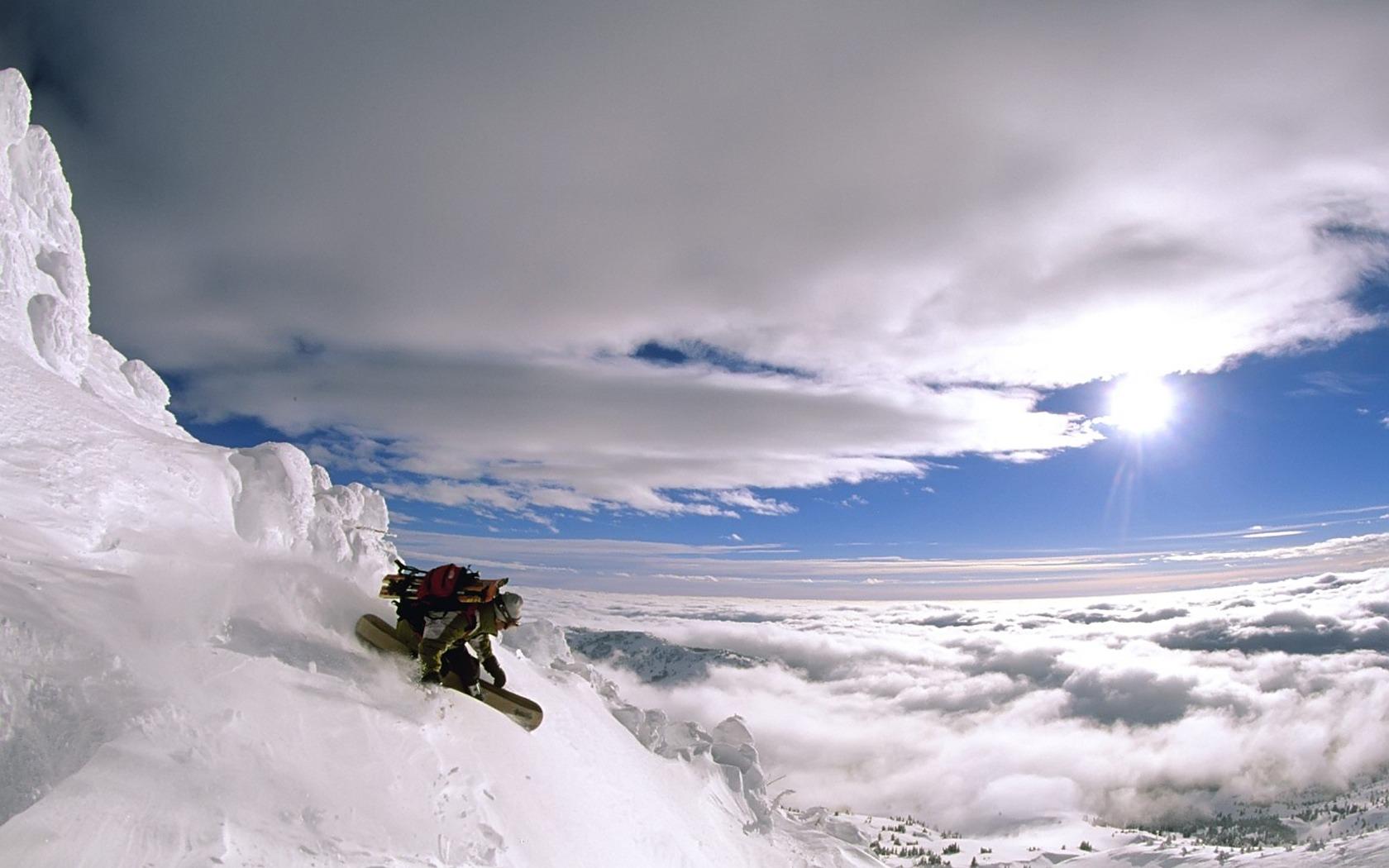 Сноуборд, фото, зима, снег, обои на рабочий стол