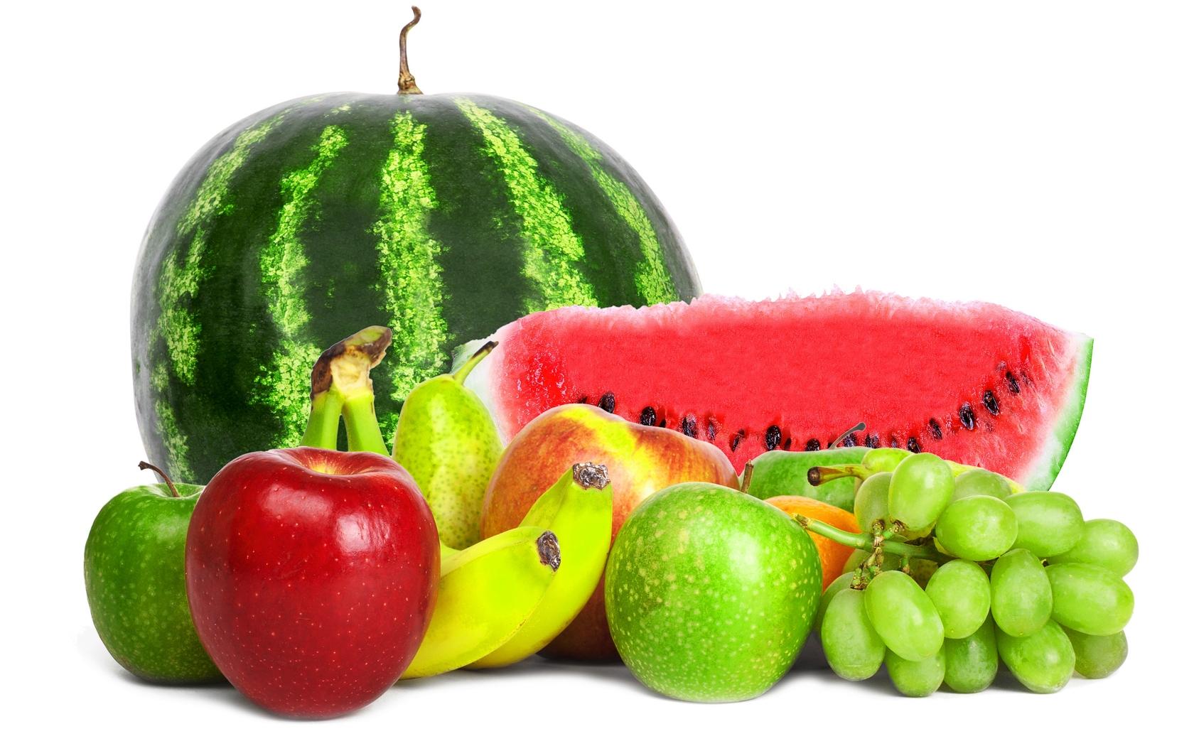 арбуз и фрукты, скачать фото, обои для рабочего стола
