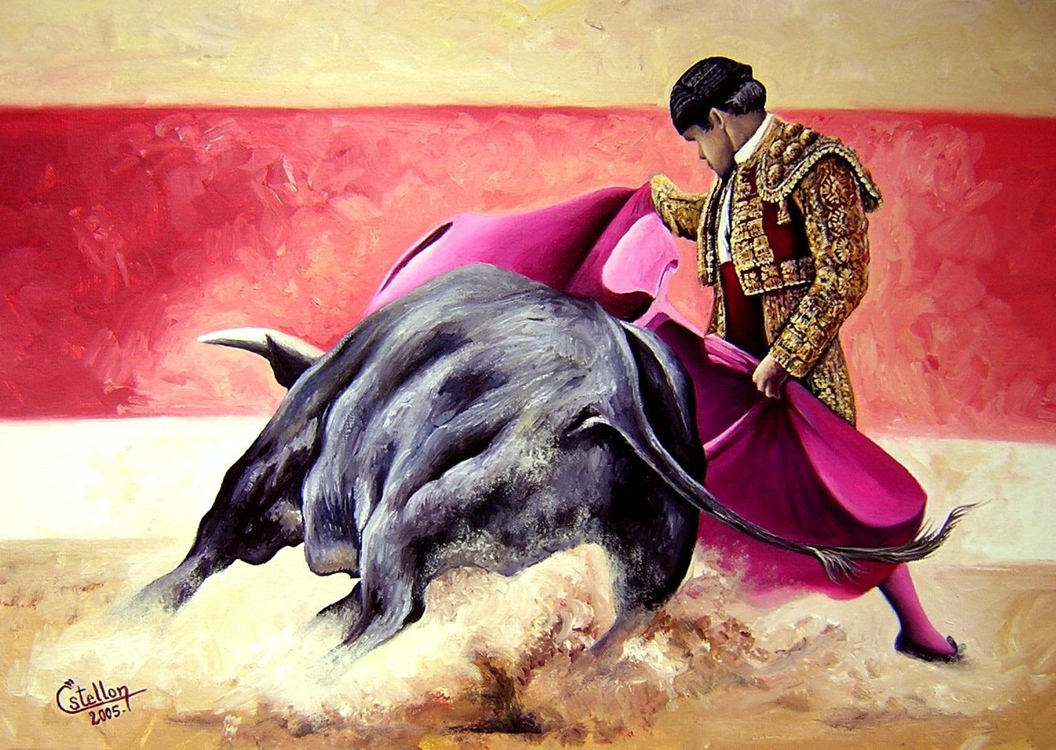 обои для рабочего стола, матадор, скачать фото, коррида, бык, бои быков