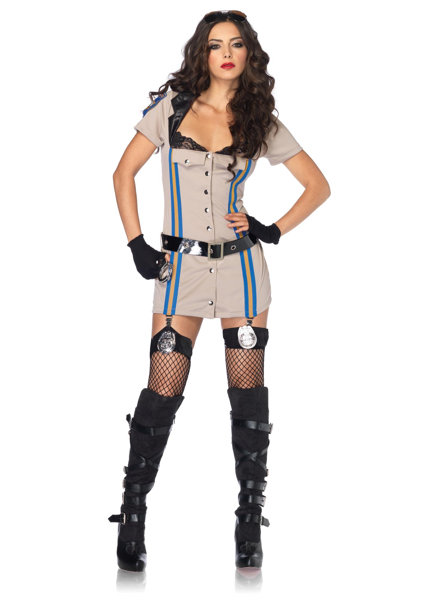 police girl, девушка в костюме полицеского, фото, скачать